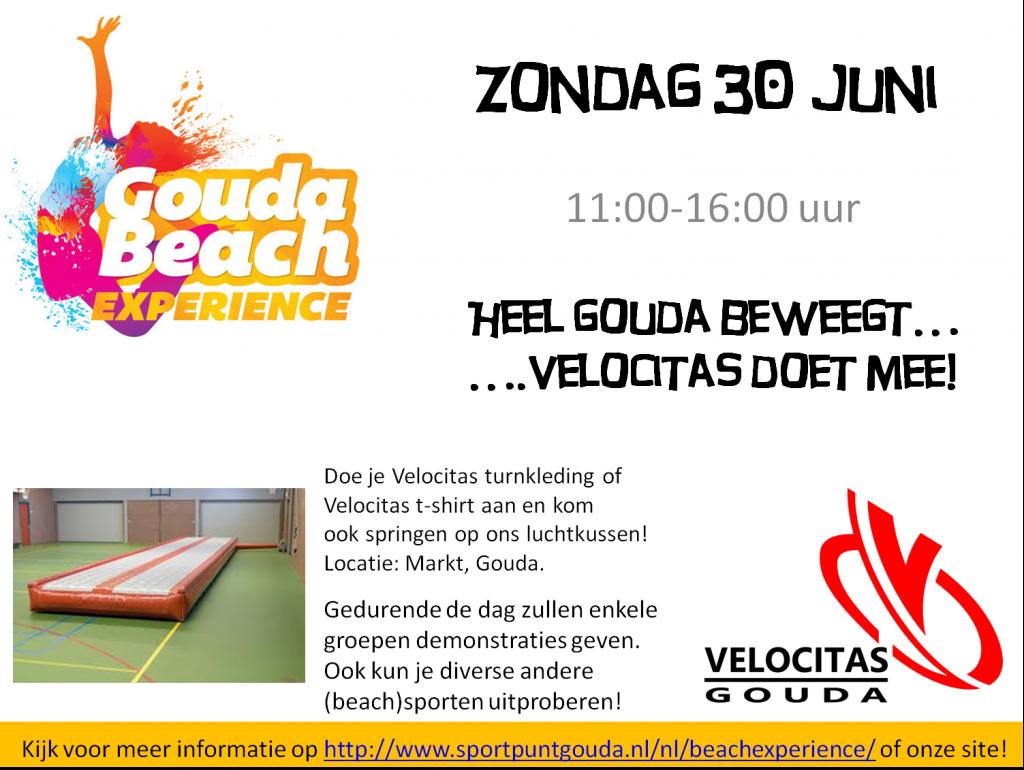 Veloflits #5 Gouda Beach Experience