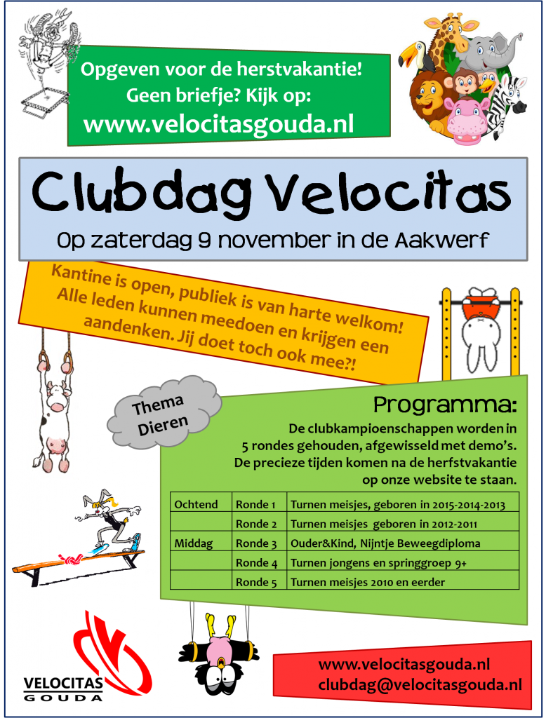 2019 clubdag poster